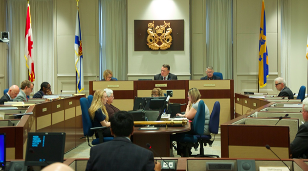 Council, at a meeting this week inside City Hall. - THE COAST