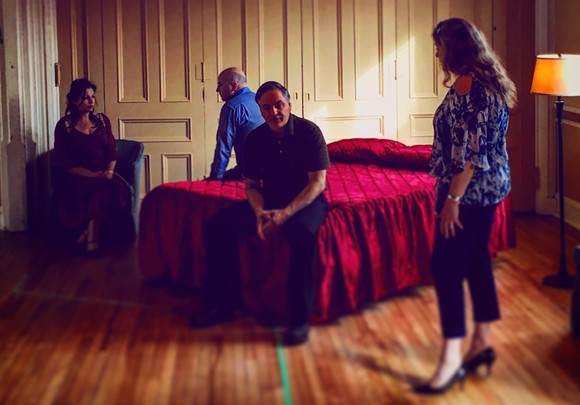 Francine Deschepper, Michael Ferguson, Pamela Halstead and Theo Pitsiavas play two couples coincidentally cheating with each other. - CONTRIBUTED BY THE PRODUCTION
