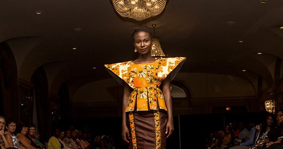 A look from Toria Aidoo's Kwestomar Kreations at last year's show. - CLICK PRODUCTIONS