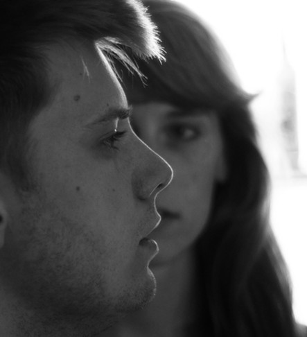 Zach Faye and Meghan Hubley in The Vanishing Woman - TREVOR POOLE