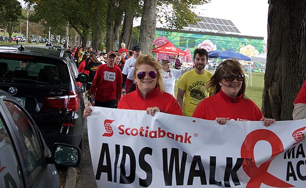 Participants at last September's AIDS Coalition of Nova Scotia's Walk for Life fundraiser. - THE COAST