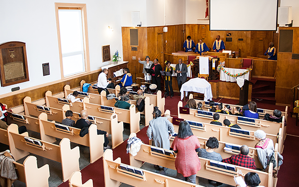 The historic Cornwallis Street Baptist Church celebrates its 185th anniversary - this month. - MEGHAN TANSEY WHITTON