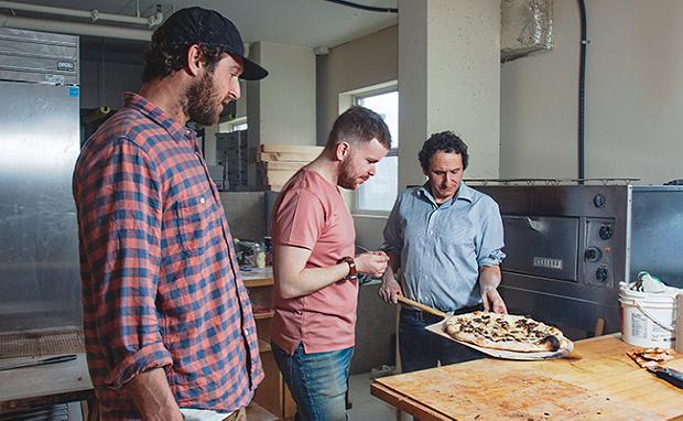 Local doughboys Dean Petty, Josh Nordin and Sal Mosca. - LENNY MULLINS