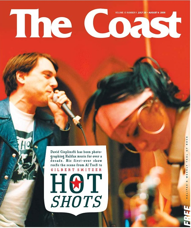 Richter graces the cover of The Coast in 2005. - DAVID CIEPLINSKI