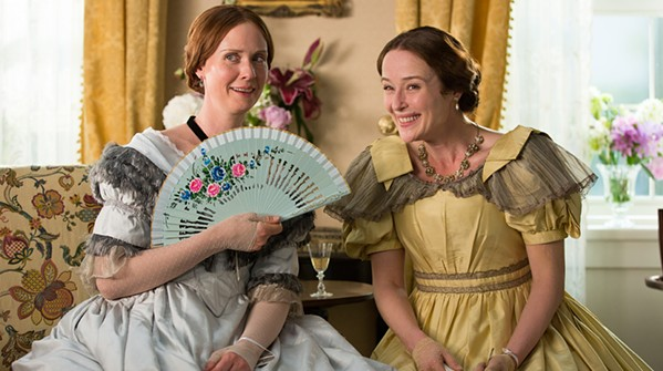 Cynthia Nixon as Emily Dickinson and Jennifer Ehle as Vinnie Dickinson. - VIA IMDB