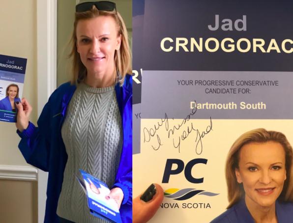 Jad Crnogorac campaigning last week. - VIA TWITTER
