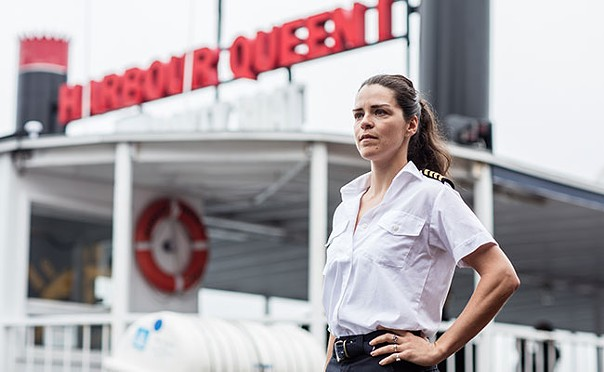 Captain Lise Portelance aboard the Harbour Queen. - RILEY SMITH