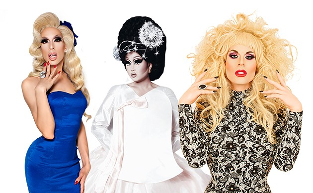 From left to right: Alaska, Kim Chi, Katya - MAGNUS HASTINGS, ADAM OUAHMANE, SEAN M JOHNSON