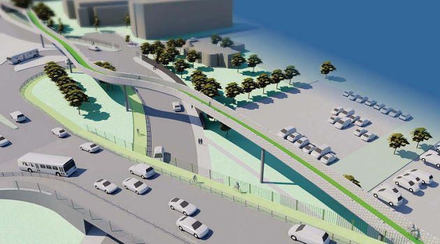 Cheaper alternatives, like installing a traffic light on the current Halifax exit ramp, were considered but decided against by HRM. - VIA HRM