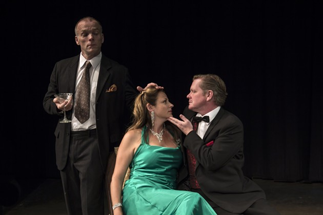 Hugh Thompson, Francine Deschepper and Chrstian Murray in Sarah Ruhl's Stage Kiss. - ASHLEY PETTIPAS