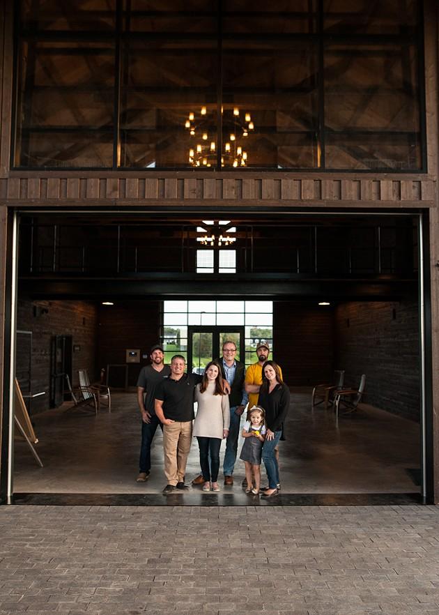 Clockwise from top left: Josh Horton (head winemaker), Peter Gamble (wine consultant), Matthew Patterson (viticulturist), Jocelyn Lightfoot , Meadow Lightfoot, Rachel Lightfoot (manager) and Michael Lightfoot - JESSICA EMIN