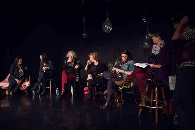 Actors ready themselves for one of many staged readings at last year's Live-In. - SUBMITTED