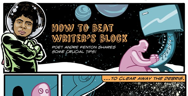 Andre Fenton on how to beat writer's block