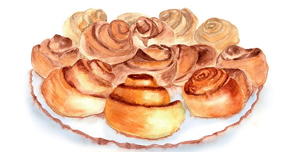 Roll your own weed cinnamon buns