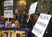 Union for Founders Square janitors claims racism behind hiring