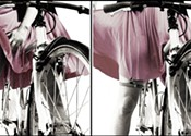 How to keep your skirt down when bike riding
