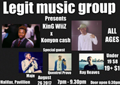 Legit Music Group Music Showcase: Konyon Cash & KinG WiiZ w/MAJE, Quentrel Provo, Ray Reaves