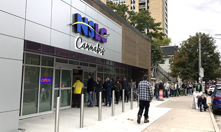 The NSLC's cannabis shop on weed legalization day.