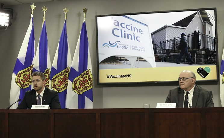 Strankin predicts: Rankin says the vax rollout plan will be delayed, Strang says it won't. COMMUNICATIONS NOVA SCOTIA