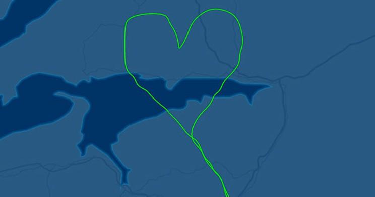 Radar track from the flight Dimitri Neonakis took over Portapique a year ago. FLIGHTAWARE