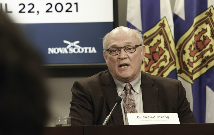 """""""I know this is not good news,"""" Strang said. """"But restrictions are needed."""" COMMUNICATIONS NOVA SCOTIA"""