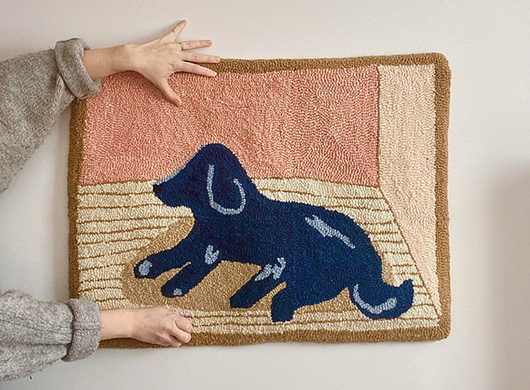 Crystal Ross's rugs are a modern spin on Nova Scotian folk art tradition. SUBMITTED
