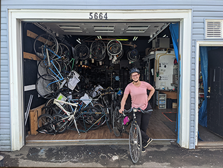 Anika Riopel is the coordinator with the EAC's Welcoming Wheels program, which aims to connect newcomers with bikes and community THE COAST