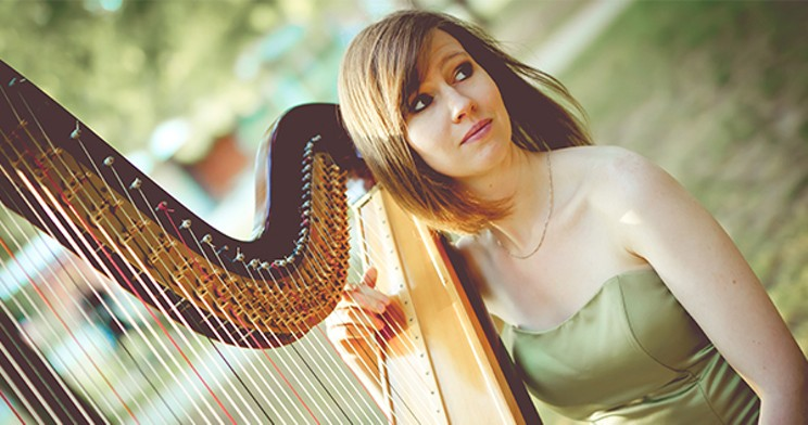 Kristan Toczko's harp playing has garnered global attention on TikTok. Now, she's playing a free livestream for the Scotia Festival of Music this Sunday. SUBMITTED