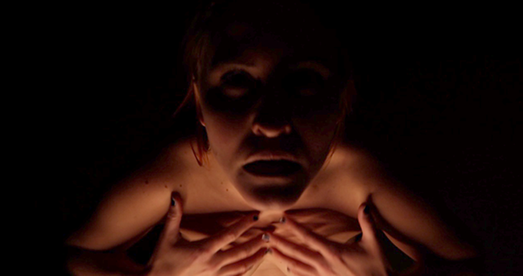 A still from the theatrical film Quietly by Dartmouth-based artist Margaret Muriel.