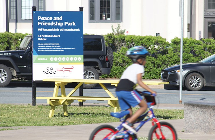 The new sign was installed at the park and an official unveiling ceremony was held by HRM on Monday, June 21. THE COAST