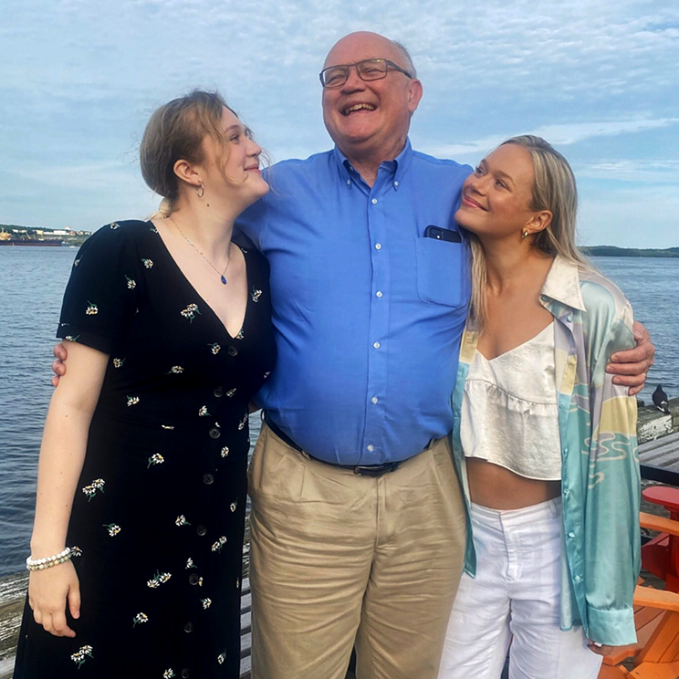 Robert Strang and his daughters Emma (left) and Alex after a family dinner out—one that got interrupted by an anti-vaxxer.