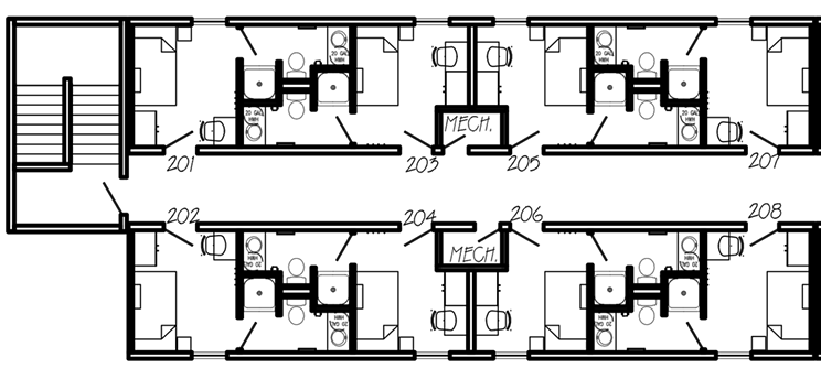 """Councillor Mason tweeted this floorplan of """"the modular units HRM is purchasing to create safe and appropriate spaces for the houseless."""""""