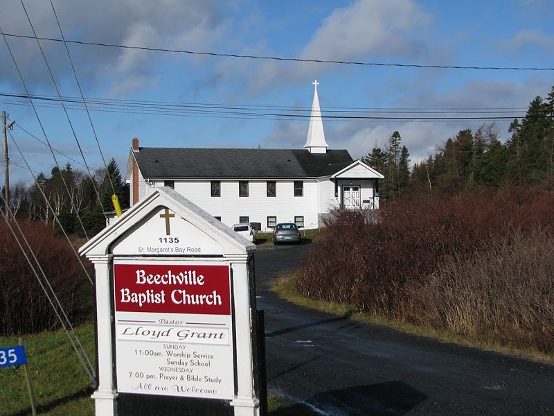 The Beechville Baptist Church on St. Margaret's Bay Road. - VIA FACEBOOK