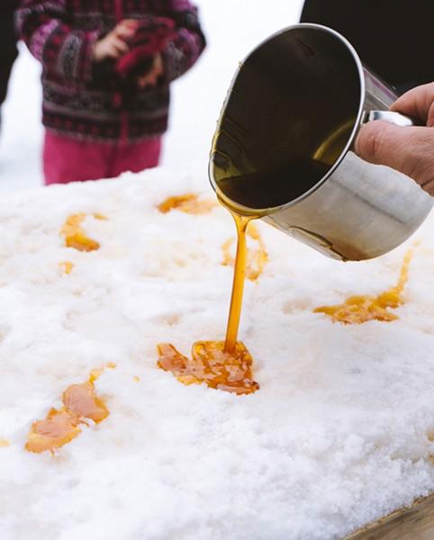 Maple taffy on the snow at Trites Maples Sugar Camp. - @DAWSONPKENT (INSTAGRAM)