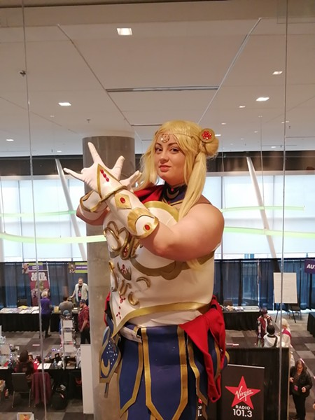 Gillis' intensive Sailor Moon costume took months to create. - ERIN CHRISTIE PHOTO