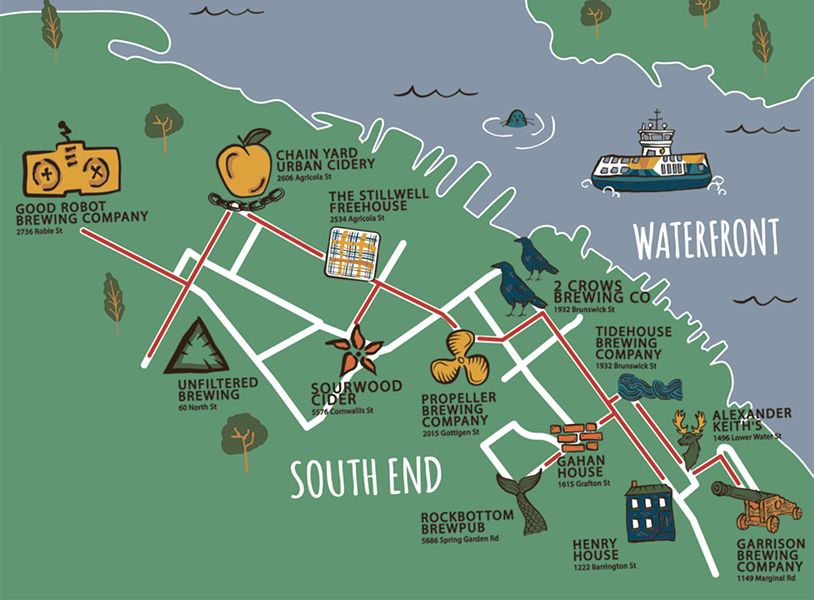 Your map to what might just be Canada's most-concentrated brewing district. - ANISA FRANCOEUR