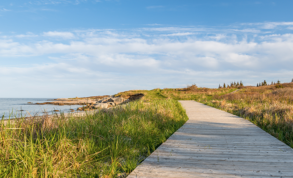 Crystal Crescent's long boardwalk stretches into the horizon. - STOCK PHOTO