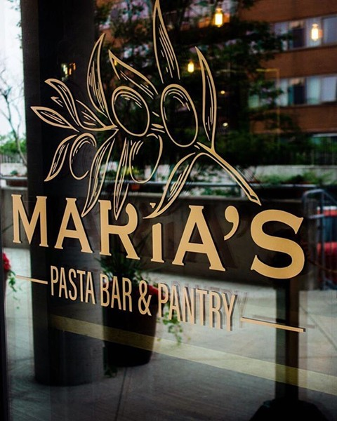 """Nonna Maria started early on Dolente's pasta training: """"at a very young age, we would always make it together."""" - MARIA'S PASTA BAR & PANTRY"""