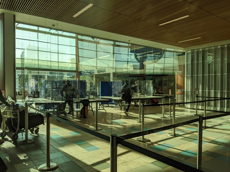 NS has set up a mini customs centre near the baggage claim at Halifax Stanfield International Airport for travellers arriving from outside the Atlantic bubble. - CAORA MCKENNA