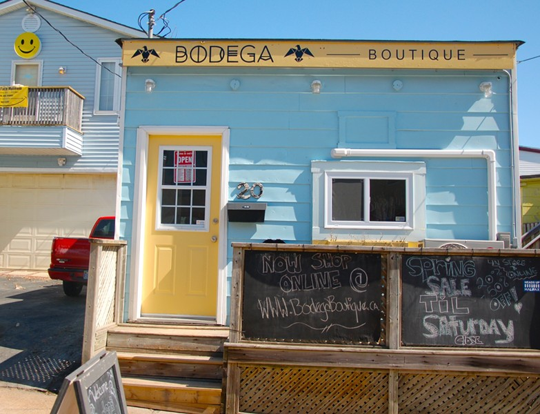 A sunny day at the soon-to-be former Bodega Boutique location
