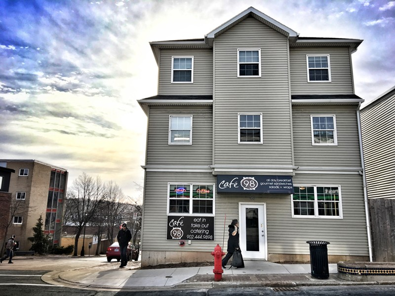 Sunny skies over downtown Dartmouth's newest eatery, Cafe 98 - MELISSA BUOTE