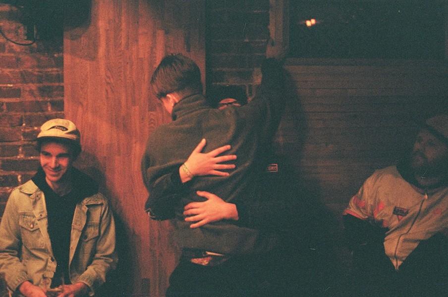 No Problem shares a hug - KATE GIFFIN