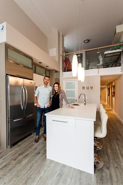 Trevor and Anna Delaney in their kitchen - DYLAN CHEW