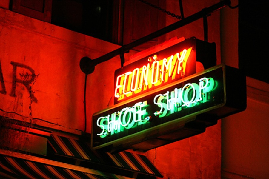The Economy Shoe Shop sign on Argyle Street. - THE COAST