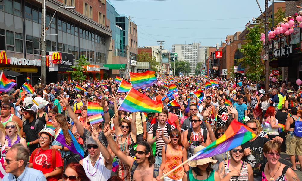 Pride festival celebrations last year on Spring Garden Road. - DYLAN WHITE