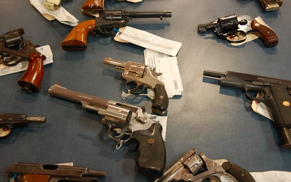 Some of the handguns that have been collected by Halifax Regional Police. - THE COAST