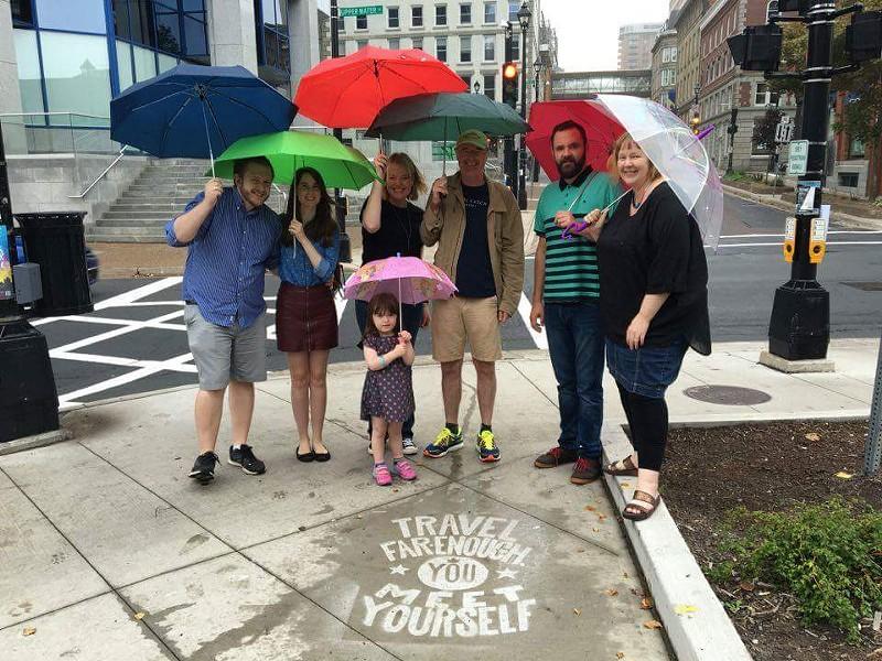 Argyle Fine Art's rainy day crew
