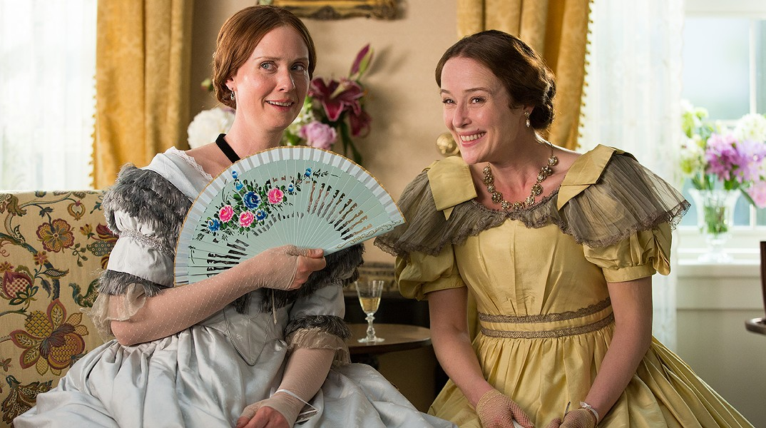 Cynthia Nixon as Emily Dickinson and Jennifer Ehle as Vinnie Dickinson. - VIA IMDB