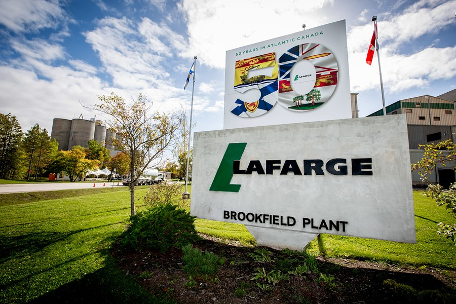 Lafarge's Brookfield cement plant will soon be using scrap tires to fuel its kiln. - SUBMITTED