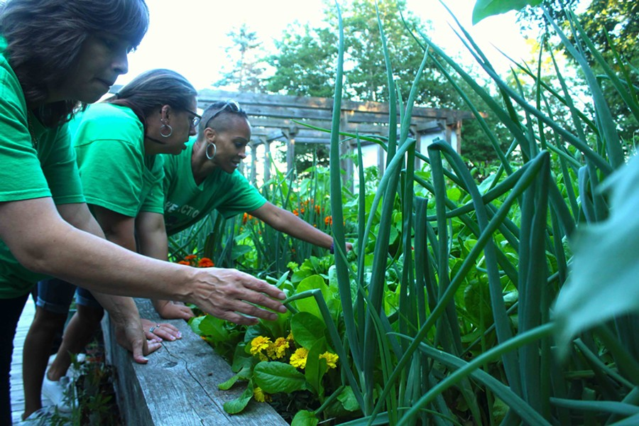 """Roseanna Cleveland calls the Take Action garden a """"little heaven in the middle of nowhere."""" - VICTORIA WALTON"""